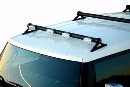 Fj Cruiser Parts Accessories Toyota Fj Cruiser Low Profile Front Light Bar Without Roof Rack By Plus1 Accessor Fj Cruiser Fj Cruiser Parts Toyota Fj Cruiser