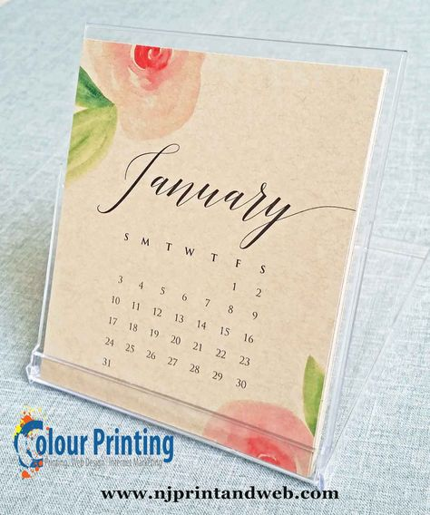 create a printable desktop calendars for a large number of