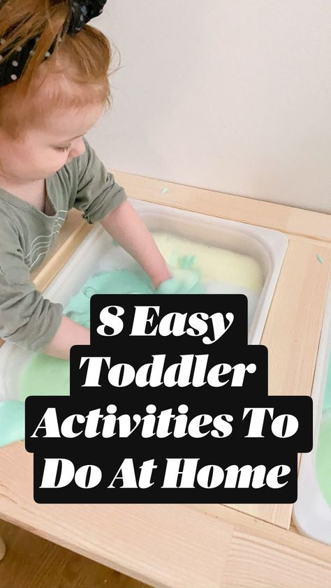 8 Easy Toddler Activities To Do At Home