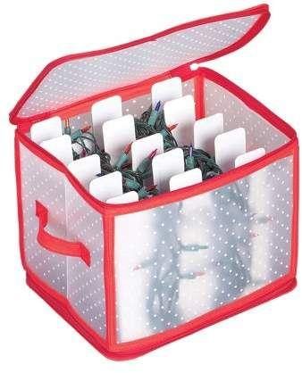 Collections Etc Christmas Light Storage Box With 5 Cardboard Wind Christmas Light Storage Christmas Ornament Storage Box Christmas Light Storage Organizations