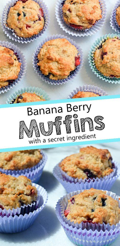 Banana Berry Muffins Opskrift