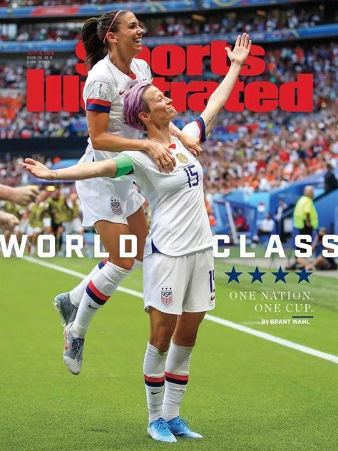 """""""Ever ref games?"""" But, of course, in high school but just the little kids' games. I stopped because the parents would scream at me. Team Usa, A Team, Premier League, Sports Illustrated Covers, World Cup Champions, Megan Rapinoe, Award Winning Photography, Fifa Women's World Cup, World Cup Winners"""