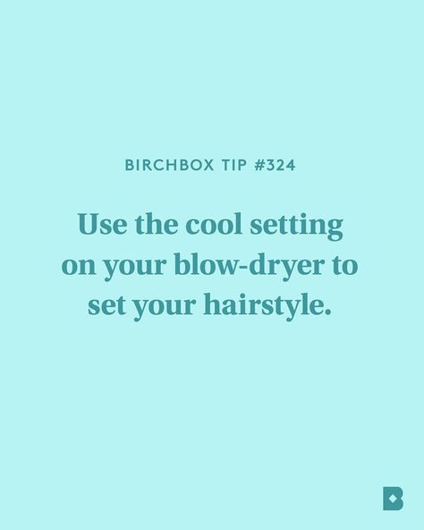 Lock your style into place by *literally* cooling down. Cool air seals the hair cuticle for a smooth, shiny finish.