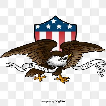 American Eagle Shield Hand Painted Elements Of American Logo Ribbon National Flag National Bird Png Transparent Clipart Image And Psd File For Free Download American Flag Clip Art American Logo Animal