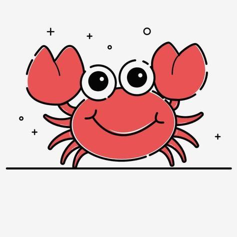 Gambar Ketam Kartun Mata Besar Pas Merah Laut Laut Makanan Laut Clipart Ketam Kartun Ketam Mata Besar Png Dan Vektor Untuk Muat Turun Percuma Cartoon Sea Creatures Cartoon Hands Drawing Cartoon