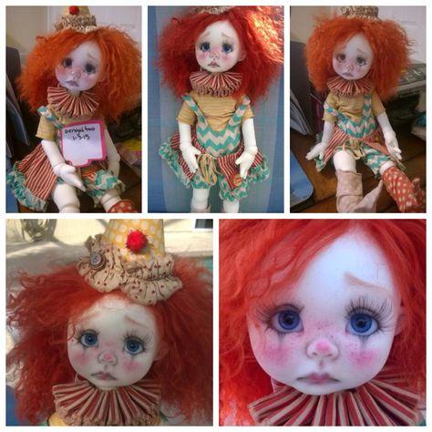 Nikki Britt's Wendy Weird as Wacky Wendy the clown!  Outfit by Sweet Creations.