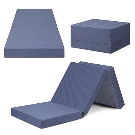 Sleeplace 04tm01s Multi Layer Tri Folding Memory Foam Topper 4