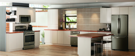 What Do You Think Of White Cabinets With Our Slate Appliances? | Kitchen |  Pinterest | White Cabinets, Slate And Kitchens