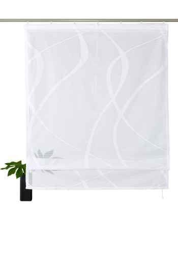My Home Gardinen raffrollo cellino my home mit klettband weiß gardinen