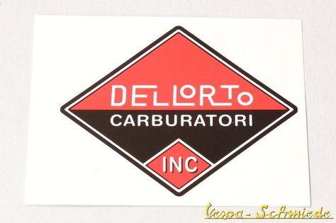 VECCHIO ADESIVO MOTO cm 8 x 7 Old Sticker CARBURATORI DELLORTO