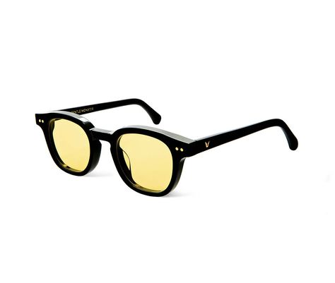 Lunettes de Soleil Polarisées Wayfarer New Gentle man or Women Monster eyeware V brand JUMPING JACK 02(Y) sunglasses for Gentle monster sunglasses -sliver frame yellow lens Z28AiUJTL