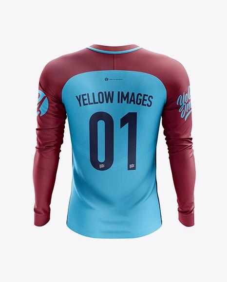 Download Men S Soccer Team Jersey Ls Mockup Back View In Apparel Mockups On Yellow Images Object Mockups Design Mockup Free Team Jersey Clothing Mockup