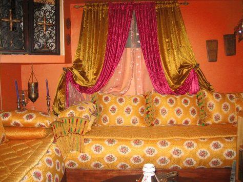 Salon Marocain Contemporain Et élégant Decor Curtains