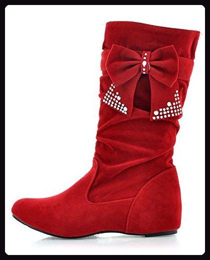 Damen Stiefeletten Keilabsatz Wedge Schlupf Stiefel Herbst Boots High Heels NEU
