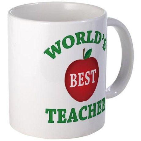 Worldsbestteacher 11 Oz Ceramic Mug World S Best Teacher Mug By