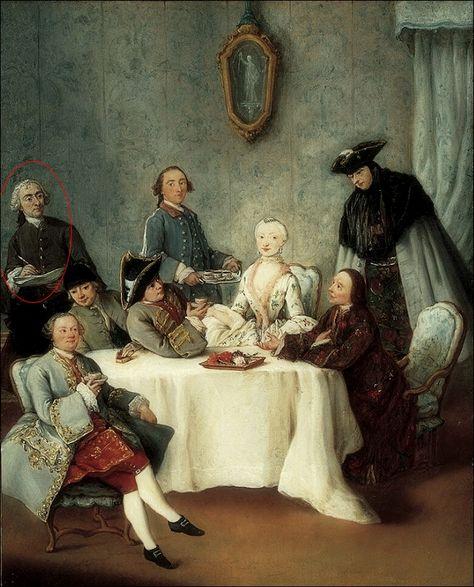 Pietro Longhi · Autoritratto (Il caffè) · 1760 ca · Norton Simon Museum · Pasadena