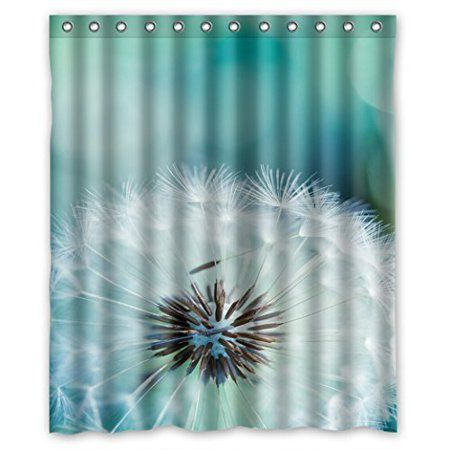 Hellodecor Dandelion Shower Curtain Polyester Fabric Bathroom