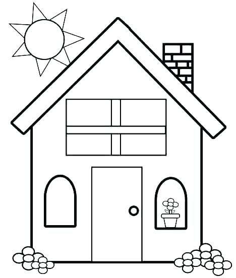 Haunted House Printable Coloring Pages House Coloring Pages Little