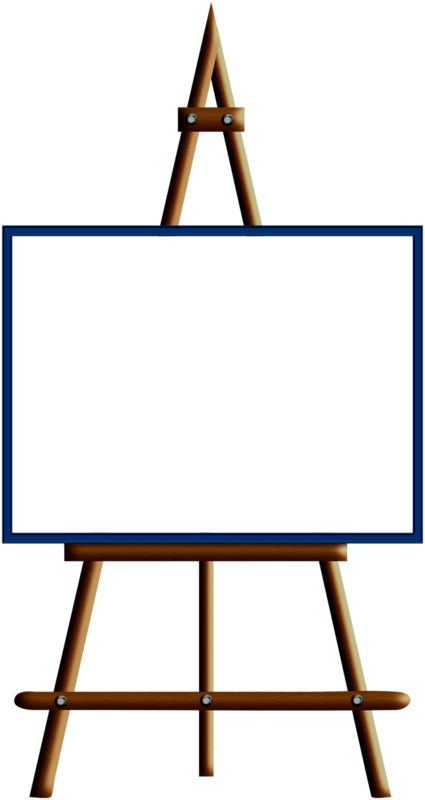 blank paint easel clip art image an art easel with a blank canvas rh pinterest com art easel clipart free Black and White Easel Clip Art