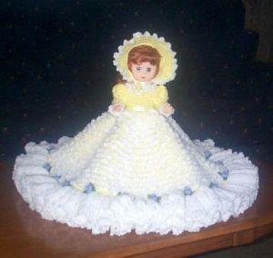 ROSEMARY ANN free crochet pattern for 13 inch doll