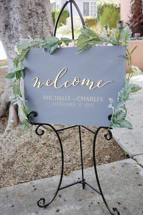 Personalized Unique Welcome Wood Wedding Sign Laser Cut Etsy