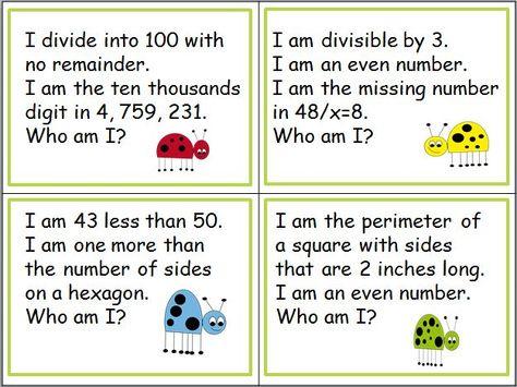More Riddles A Freebie Math Riddles Education Math 2nd Grade Math