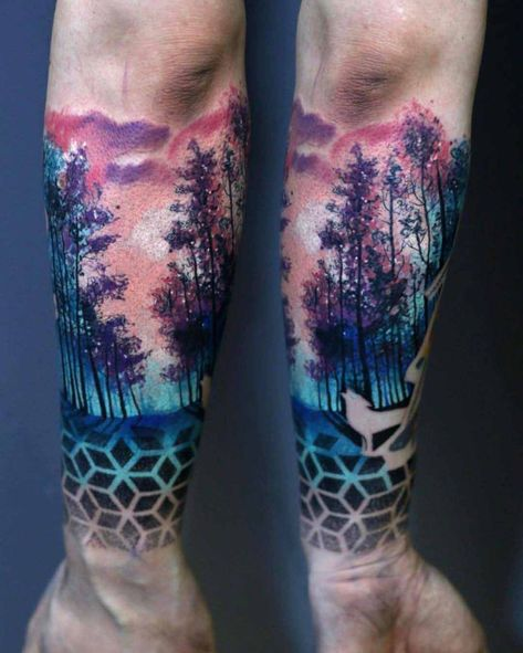 wrist tattoo forest sleeve #boulderinn #beautytatoos