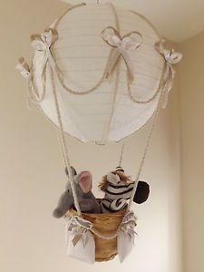 10 best nursery images on pinterest nursery decor animals and hot air balloon lamplight shade jungle circus boy girl aloadofball Images