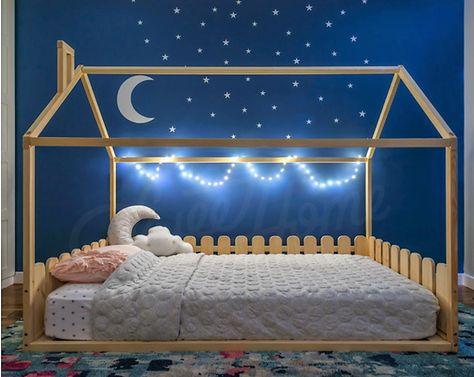 Children Bed Toddler Bed House Bed House Bedroom Interior Etsy In 2020 Toddler Rooms Girl Bedroom Decor Toddler Bedrooms