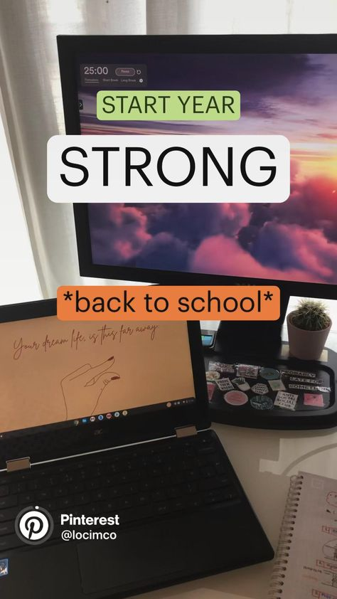 Start the year strong - Back to school