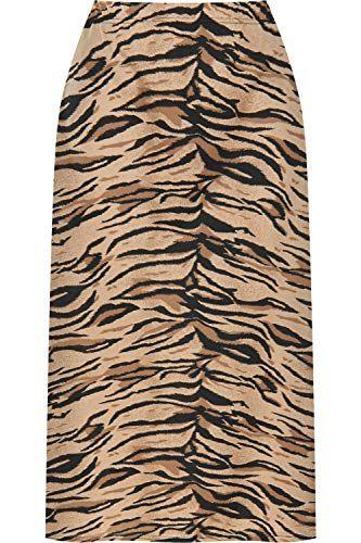 eb38a148496 WearAll - Femmes Plus Tigre Animal Plein Longueur Maxi Jupe Dames ...