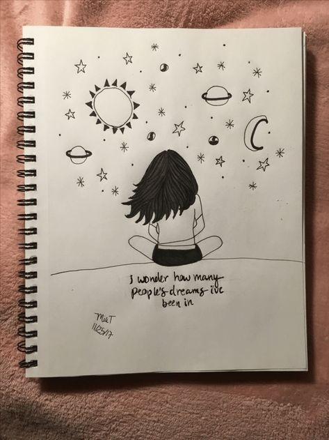 page-de-cahier-comment-bien-dessiner-dessin-facile-a-faire-etape-par-etape-fille-qui-regarde-le-monde