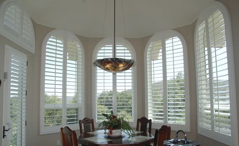 Arched Windows Beautifully Covered With Our Energy Efficient Louverwood Shutters The 2016 Federal Tax Credit Ends Soon Call Today