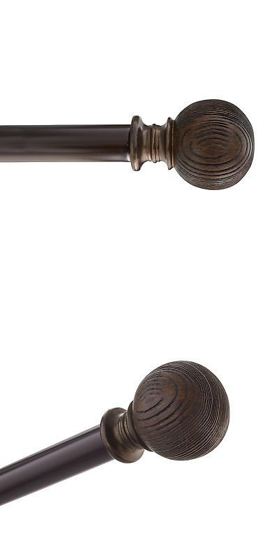Curtain Rods And Finials 103459 Hdi Wood Ball Adjustable Curtain