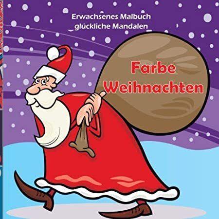 Ebook Farbe Weihnachten Erwachsenes Malbuch Gluckliche