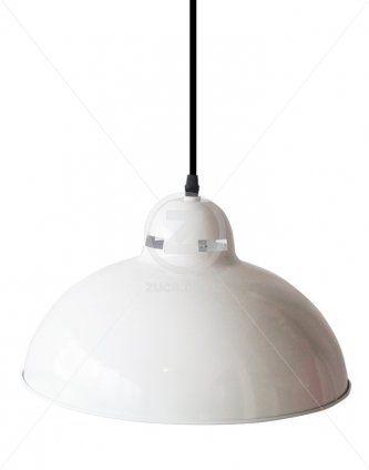 Industrial Cupola Plus Pendant – White Gloss