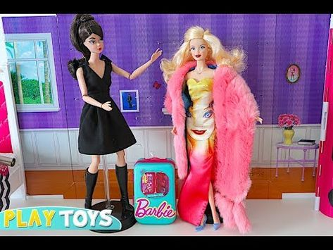 Magic Barbie Doll Save Barbie Girl Dress Up Party From Barbie Travel Case Disaster Youtube Barbie Fashion Designer Girls Dress Up Glam Dresses
