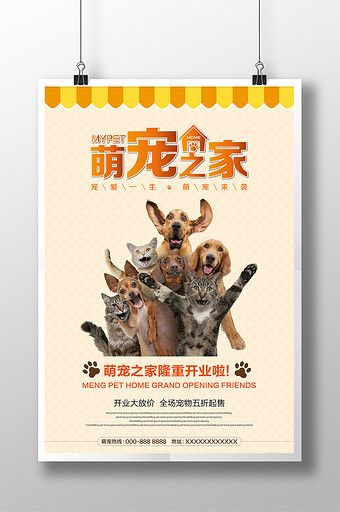 Pet Shop Opening Flyer Poster Pikbest Templates Pet Shop Pet Advertising Pets