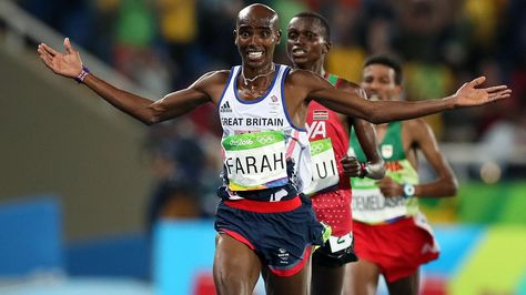 Mo Farah swept to victory in the 10,000 metres at the Rio Olympics early this morning, giving Team GB a spectacular Super Saturday and reigniting the spirit of London 2012.  Farah overcame a fall when he was accidentally tripped by his American training partner Galen Rupp, before leaving his rivals in his wake in the final yards.