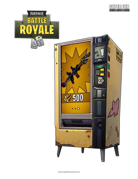 Fortnite Vending Machine Coloring Page Super Fun Coloring Pages In