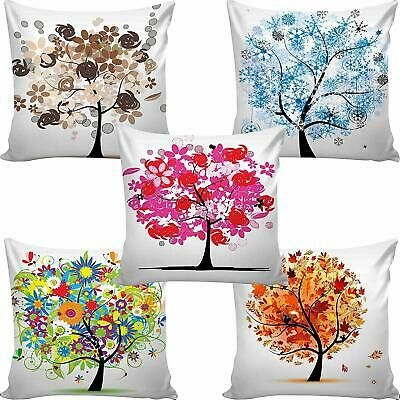 Jute Printed Digital Desgin Decorative Sofa Cushion Cover Pack Of 5 Tree3 Ebay In 2020 Cushion Covers Online Printed Cushion Covers Cushions On Sofa