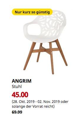 Ikea Dusseldorf Angrim Stuhl Weiss Gemustert Stuhle Ikea