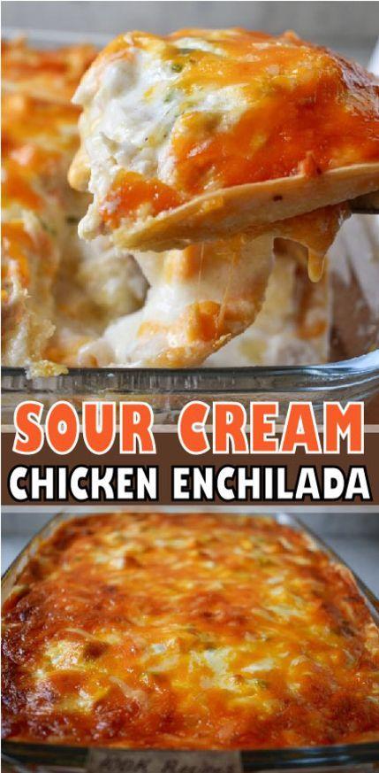 Sour Cream Chicken Enchilada Casserole Casserole Chicken Cream Enchilada In 2020 Chicken Enchilada Casserole Sour Cream Chicken Chicken Enchilada Casserole Recipe
