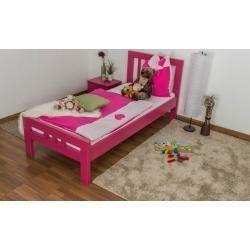 Kinderbett Jugendbett Easy Premium Line K8 Buche Vollholz Massiv Rosa Lackiert Liegeflache 90 Bettideenkinde In 2020 Childrens Beds Home Gym Decor Small Decor