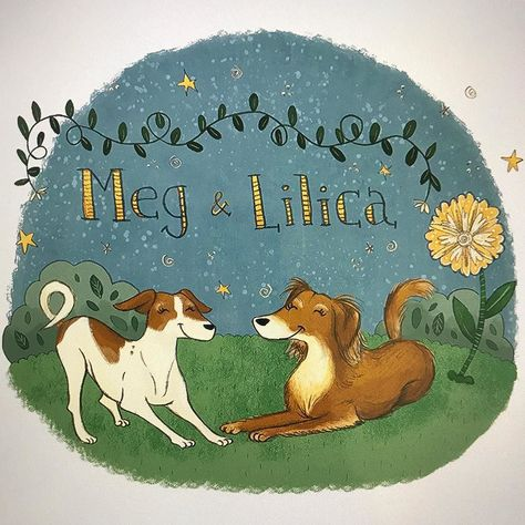 rescuedog Meg & Lilica have very...