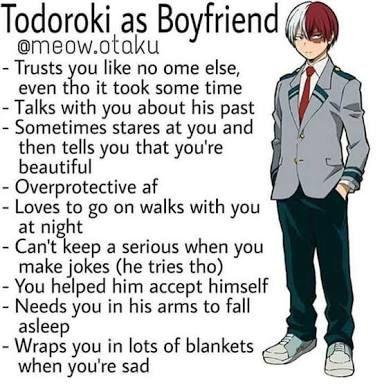 Todoroki as a boyfriend | My Hero Academia | My hero academia memes