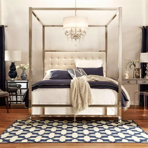 LAST DAYS to enter to win THIS BED!! This four poster mirrored canopy bed is going home free to one winner from Inspire Q - it's the same bed I have in my room and I love it. Click through to eneter