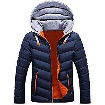 Btruely Hoodies Jacke Herren Slim Fit Winterjacke Hooded