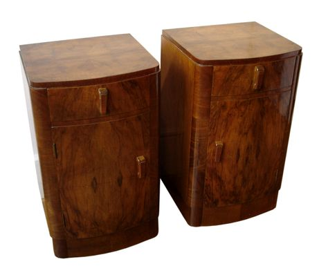 Bedside Tables A Pair Of Handed Original Art Deco Bedside Cabinets