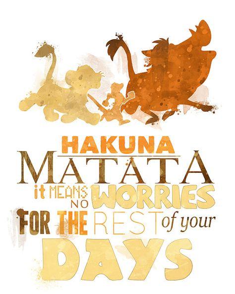Hakuna Matata 8x10 Lion King Printable Poster - DIGITAL / Instant Download / Simba / Timon / Pumbaa / Disney Wall Art / Home Decor / Quote